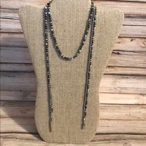 Stella & Dot Zoe Lariat Necklace in Hematite
